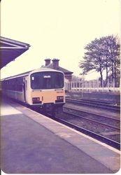 DMU at Platform 1, June 1985