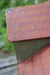 Old paint showing on dormer
