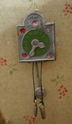 Antique soft metal German clock