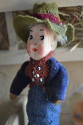 Mr. Doll - in beautiful but moth-eaten woollen clothes
