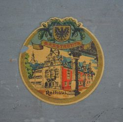 Old transfer showing Arnstadt town hall
