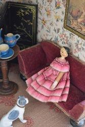 Tiny Grödnertal on a wonderful sofa
