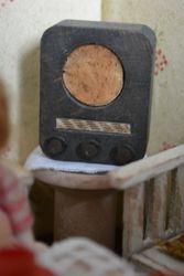 Antique wooden radio