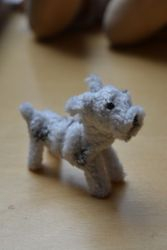 Edel's first pipecleaner dog