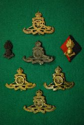 Royal Artillery cap badges