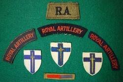 Cloth shoulder badges worn on the Battle DressD