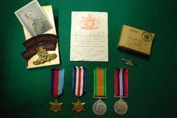 Memorabilia from gunner L. Johnson