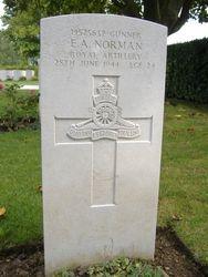 Gunner Edward A. Norman grave