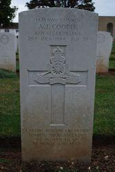 Gunner A.J. Cooper grave