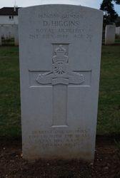 Gunner D. Higgins grave