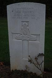 L/Bdr A.E. Davies grave