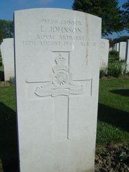 Gunner Leonard Johnson grave