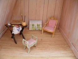 Art studio in attic.