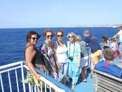 na trajektu za Gozo