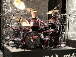 Glenn Sobel's kit for the Alice Cooper tour