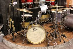 A classy Gretsch anniversary edition kit.