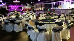 White linen with midnight blue overlays