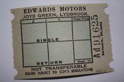 Edwards Motors Ticket