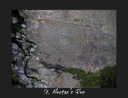 Maze carving in St. Necturn's glen