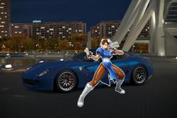 Chun-Li and her Ferrari 599 GTO