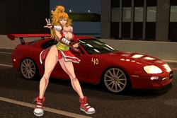 Maki Genryusai and her Toyota Supra RZ