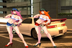 Posion, Roxy and their Mitsubishi 3000GT VR4