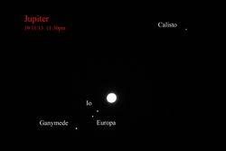 Jupiter, and 4 moons