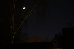 Crescent Moon, Venus and Mars
