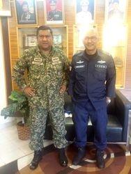 Men in uniform: LtKol Man Mael TUDM (84) & LtKol Suhaimi (85)