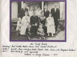 David Printz Family taken around 1917