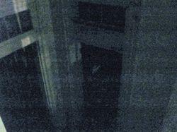 Something in the doorway.