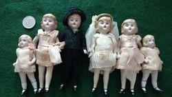 Antique Bisque Wedding Dolls