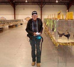 Bob Nylander at a Four Corners Poultry Club show in Farmington N.M. 2008