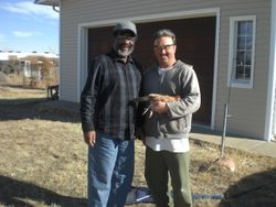 Larry Queen & Mark Rosen at Mark's place in Boone CO. in early 2010