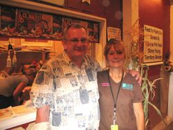 Kathy Hobbs with Judge Eric Kutch at a Colorado State Fair show in 2007