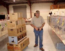 Mike Johnson at a Four Corners Poultry Club show in Farmington N.M. 2008