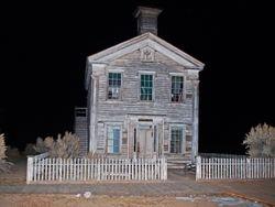 Masonic Temple & School at Night