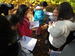 Learning to use a map and compass