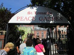 Peace Garden at St. Leonard's Church