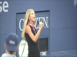 Performing at the US Tennis Open 2