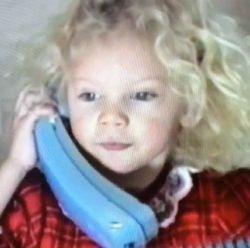 Taylor on Christmas at age 3