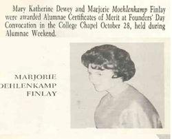 Lindenwood University article about Marjorie