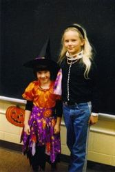 Taylor and a friend at school.