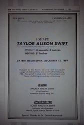 Scott created this for Taylor's birth.