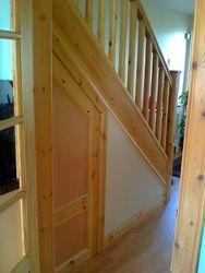 new pine banister installed  pic 1