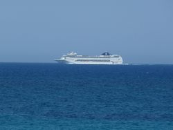 A passing cruise liner
