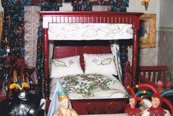 Bed in Medieval room