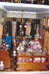 Porcelain and Glassware collection room in Museum