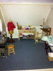 sewing and ironing room