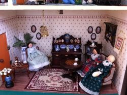Taking tea in the parlour